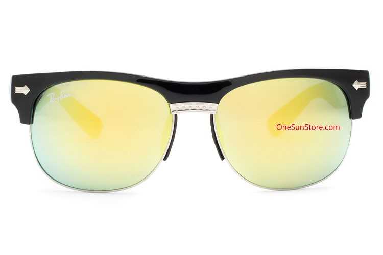 600bef8f31a knockoff Ray Ban sunglasses RB20257 Clubmaster Oversized Flash Lenses  Black