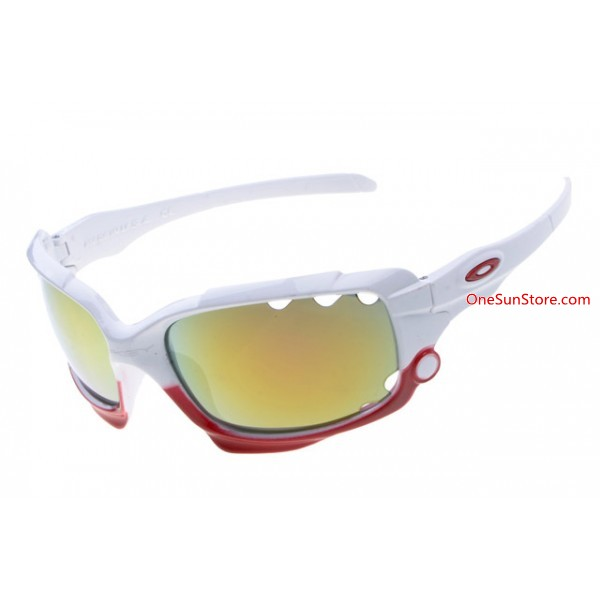 3961dbbbe0 fake Oakley Racing Jacket sunglasses white   fire iridium