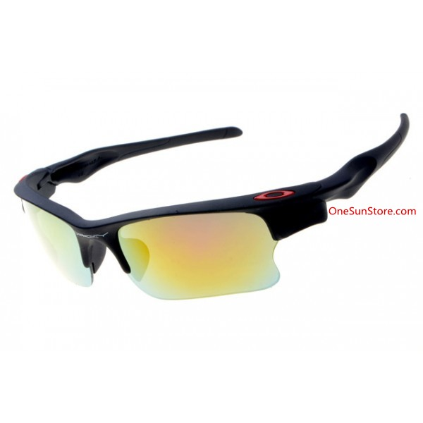 0a0b4d61f6 replica Oakley Fast Jacket sunglasses matte black frame fire iridium ...
