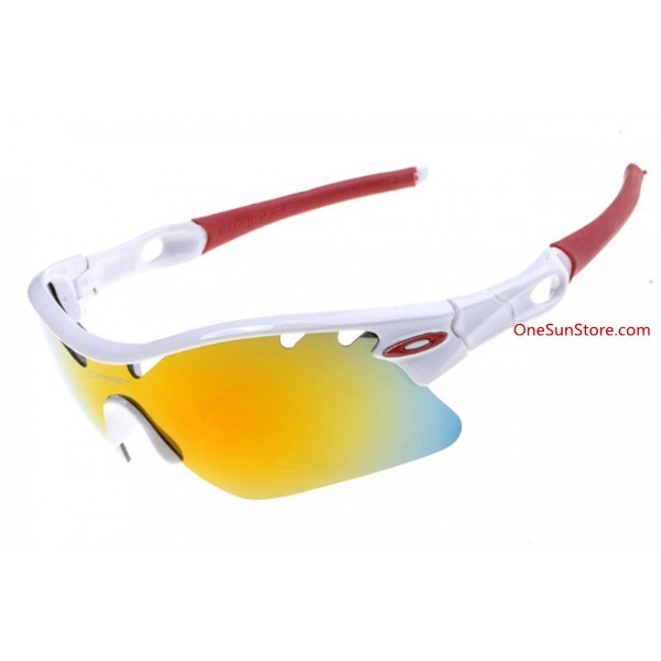 cc76b2b45ab cheap Oakley Radarlock Pitch sunglasses white frame fire iridium ...