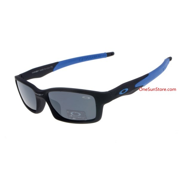 521e6429a04 knockoff Oakley Crosslink sunglasses black blue   gray lens