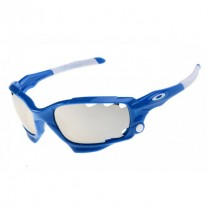 Racing Jacket polished blue / silver iridium sunglass