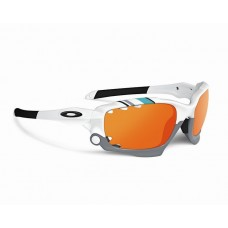 Racing Jacket 30 Years White Fire Iridium Sunglasses New