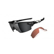 Radar Pitch Polished Black Iridium & VR28 Sunglasses Newest Style