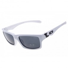 Jupiter Squared sunglasses white frame gray lens