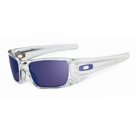 Fuel Cell Polished Clear Matte Violet Iridium Sunglasses New