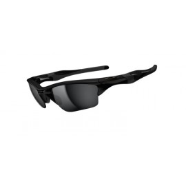 Half Jacket 2.0 XL Polished Black Iridium Sunglasses New Arrival