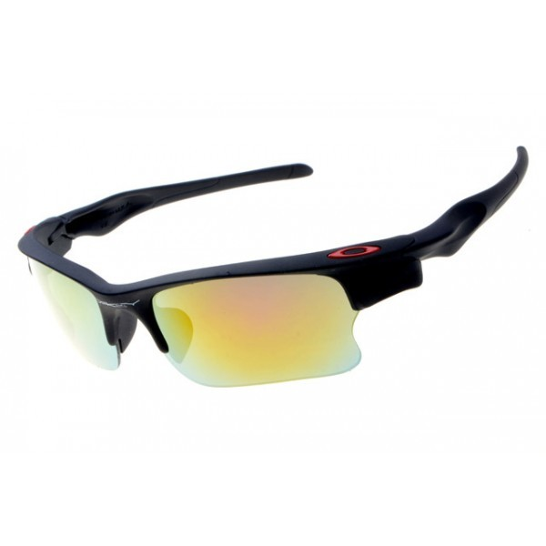 b70be3d47e replica Oakley Fast Jacket sunglasses matte black frame fire iridium ...