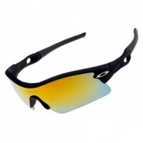 radar pitch sunglasses matte black / fire iridium