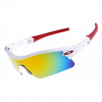 radar pitch sunglasses white / fire iridium