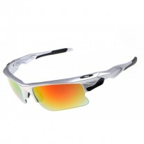 fast jacket silver and fire iridium sunglasses