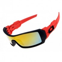 Oil Rig sunglasses matte black red / fire iridium