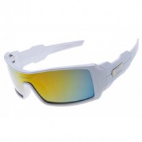 Oil Rig sunglasses white / fire iridium