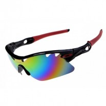 radarlock pitch sunglass black red for sale