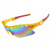 radarlock pitch sunglass polished yellow