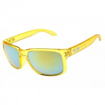 Holbrook sunglasses clear yellow / emerald iridium