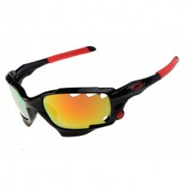 Racing Jacket polished black / fire iridium sunglass