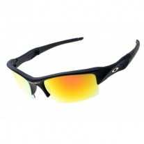 flak jacket sunglass matte black / fire iridium