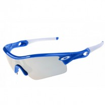 Radar Path sunglasses polished blue frame silver lens