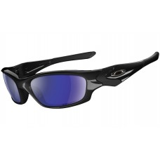 Straight Jacket Polished Black Blue Polarized Sunglasses Catalog