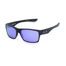 TwoFace Matte Black Violet Iridium Sunglasses New