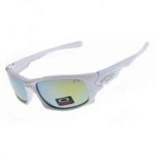Ten sunglasses white frame jade iridium lens