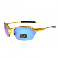 Half-X sunglasses golden frame ice iridium lens