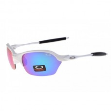 Half-X sunglasses polished white / ice iridium