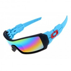 Oil Rig sunglasses matte black and blue