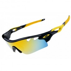 radarLock path sunglass black yellow / fire iridium