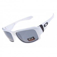 big taco sunglass white / gray lens