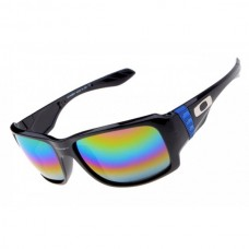 big taco sunglass polished black / rainbow lens