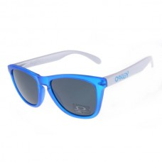crystal blue white frogskins sunglass black lens