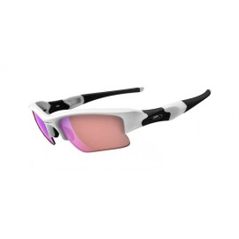 Flak Jacket XLJ Polished White G30 Iridium Sunglasses